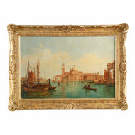 Alfred Pollentine (British, 1836-90) View of San Giorgio, Venice