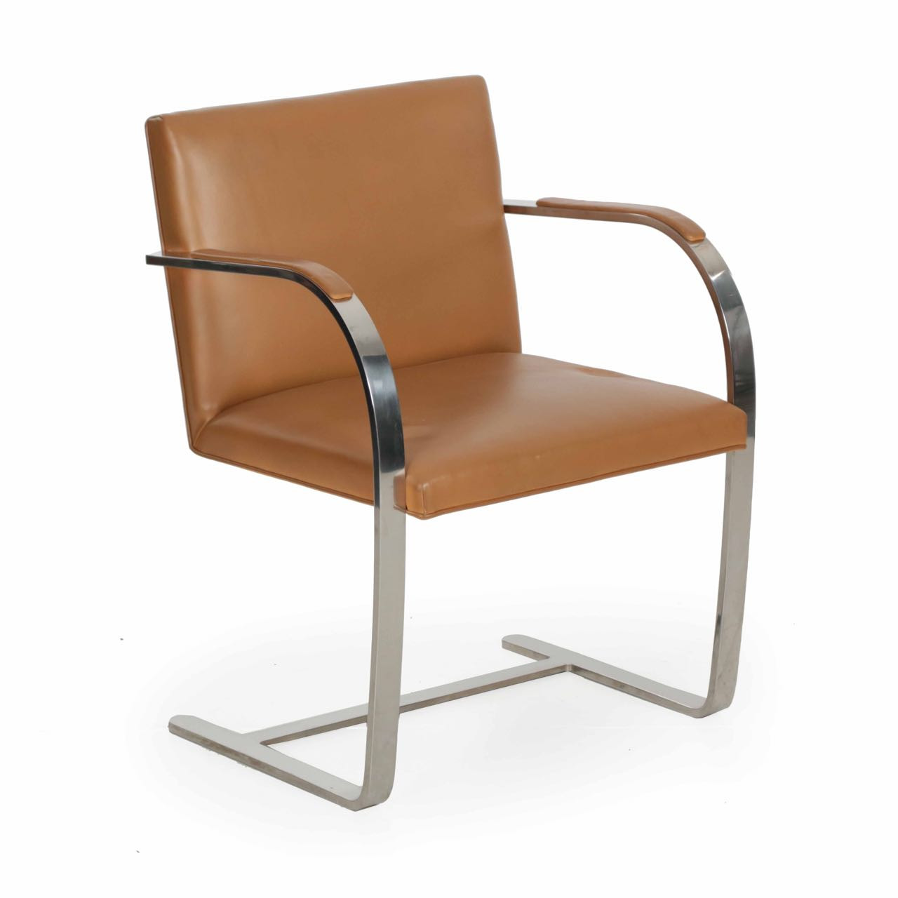Remarkable Vintage Mies Van Der Rohe For Knoll Leather Brno Arm Chair Short Links Chair Design For Home Short Linksinfo