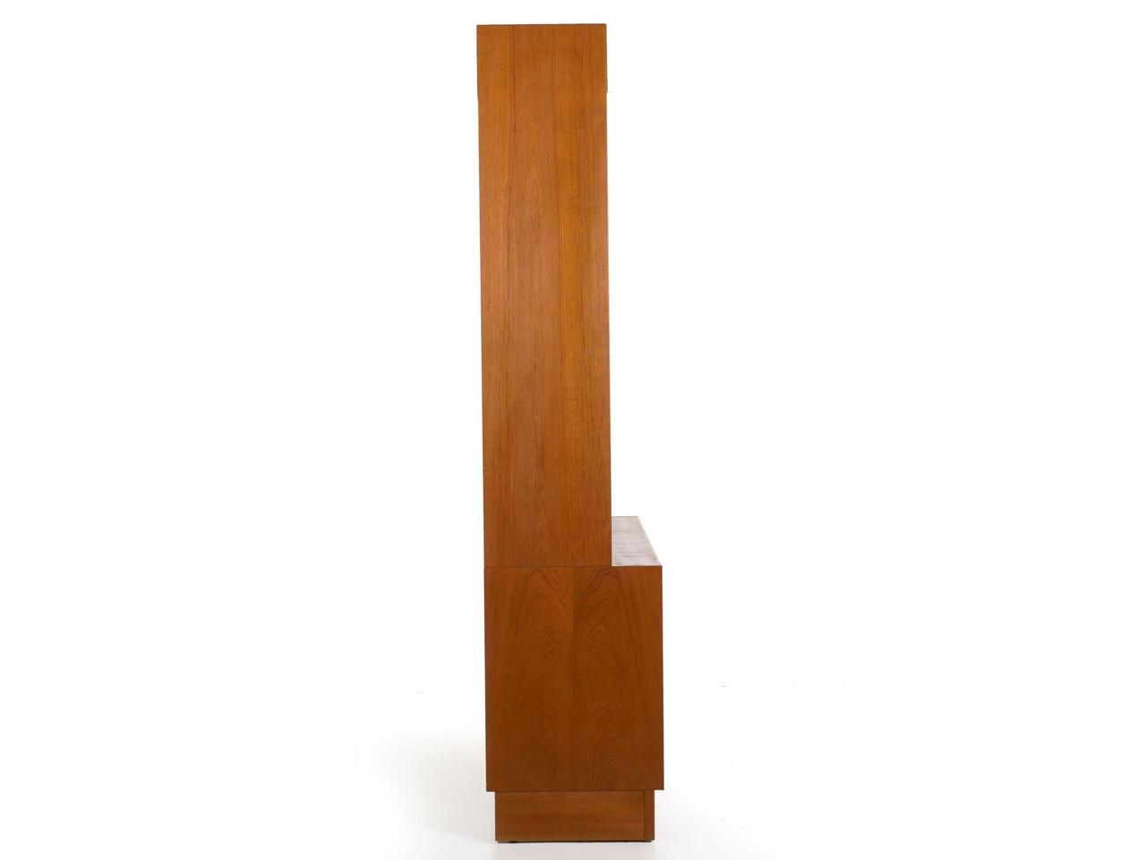 Danish Mid Century Modern Teak Bookcase Cabinet Poul Hundevad