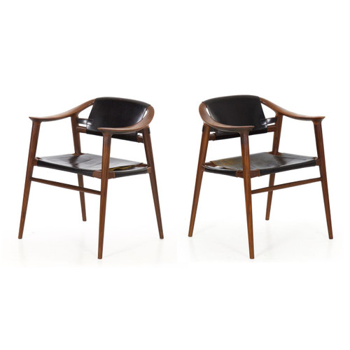 "Pair of ""Bambi"" Armchairs by Rolf Rastad & Adolf Relling, Norway c. 1950s"