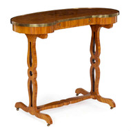 French Louis XVI Kingwood Writing Table A Rognon, 19th Century