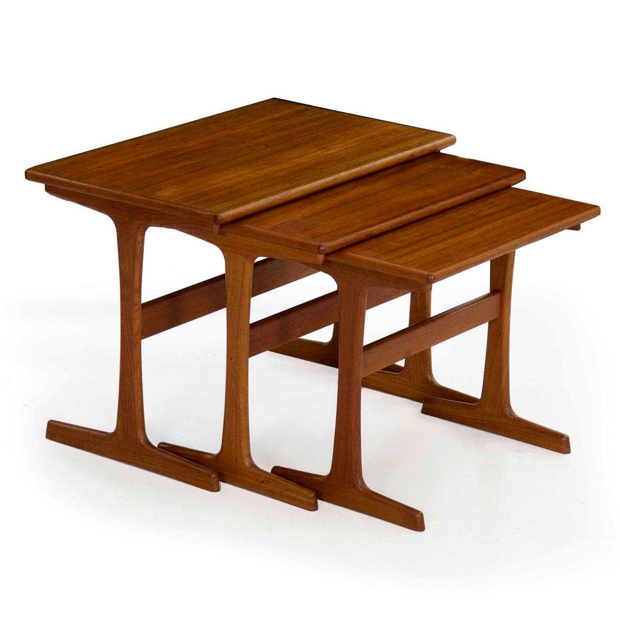 release date c6616 16d4d Danish Mid Century Nesting Tables by Kai Kristiansen c. 1960s