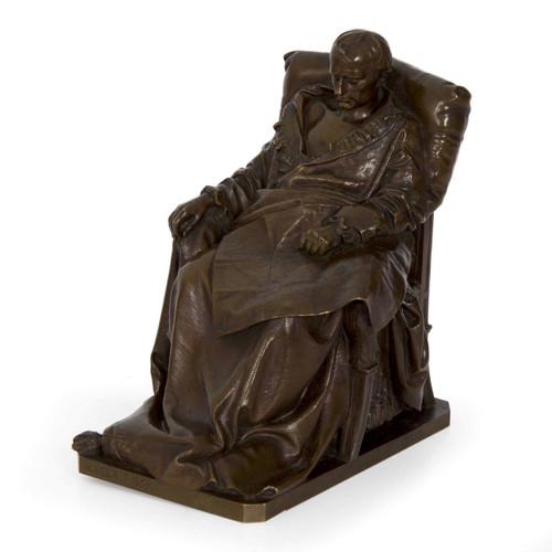 Last Days of Napoleon, bronze   Vincenzo Vela