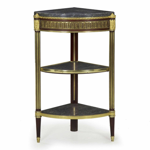 An Exceptional Louis Xvi Style Three-Tier Ecoignure Stand