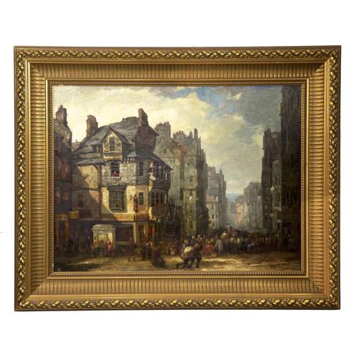"""The John Knox House on Royal Mile"" | Painting circa 1840-60"