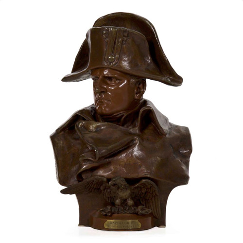 Napoleon 1er, 1812, bronze bust | Renzo Colombo (Italian, 1856-1885)