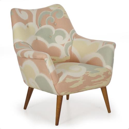 American Modern Arm Chair on Splayed Maple Legs circa 1960s
