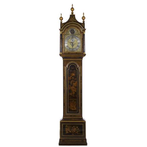 George III Japanned Longcase Clock by Daniel Keele, Salisbury c. 1770