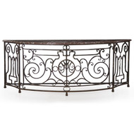 "An unusual work of art in wrought iron, this twisting form is massive with a full width of over 105""."