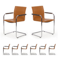 An incredibly comfortable set of chairs that are equally effective in the dining room or the conference room.