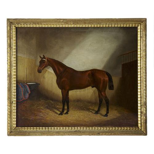 Equestrian Stable Scene | James Clark and James Albert Clark (British, 1863-1955)