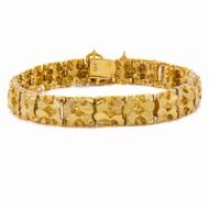 """Vintage 14K """"Gold Nugget"""" Bracelet   31.7 grams, 7 1/2"""" long"""