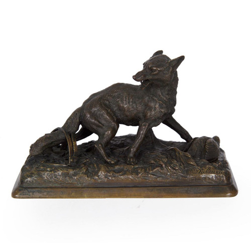 """Renard"", patinated bronze 