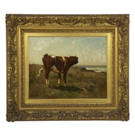"""A Young Cow"", oil on canvas 