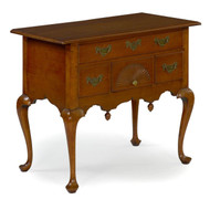 American Queen Anne Cherry Lowboy, Massachusetts c. 1750-70