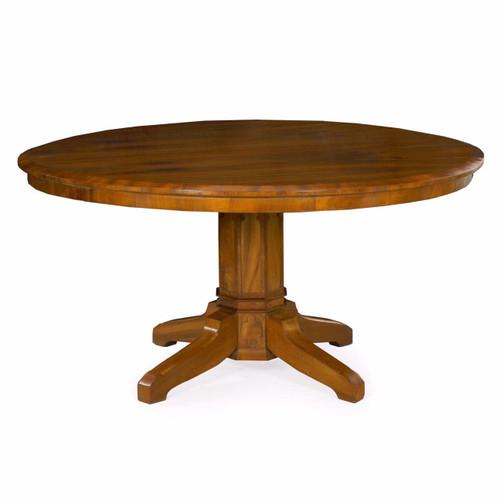 Biedermeier Style Cherrywood Circular Dining Table, 19th Century