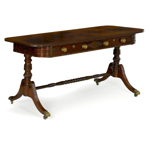Fine Regency Carved Rosewood Writing Table circa 1820