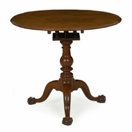 Pennsylvania Queen Anne Walnut Tea Table, likely Chester County c. 1770