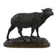 """Merino Ewe"", bronze sculpture | Isidore Jules Bonheur & Peyrol foundry"