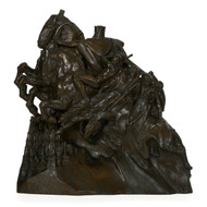 """Four Horsemen of the Apocalypse"", bronze sculpture 