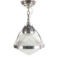 Vintage Chromed Steel and Aluminum Pendant Lamp
