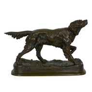 """Setter on Point"" (1860), bronze sculpture 
