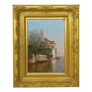 """Venetian Canal"", oil painting | Warren Shepherd (American, 1858 - 1937)"