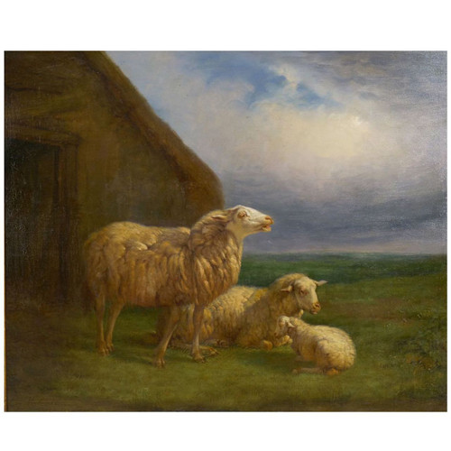 """Sheep at Pasture"" (1862), oil painting 