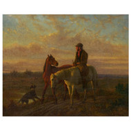 """Rider on a Path"", a fine Equestrian oil painting 