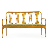 Biedermeier Style Maple Bench | Austrian, 20th Century