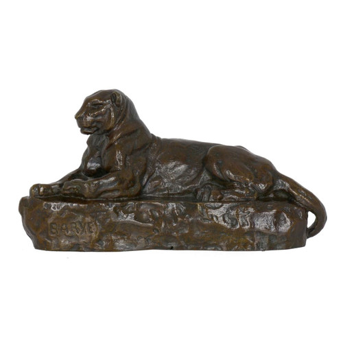 """Panthere De L'inde No 1"", bronze sculpture | Antoine-Louis Barye"