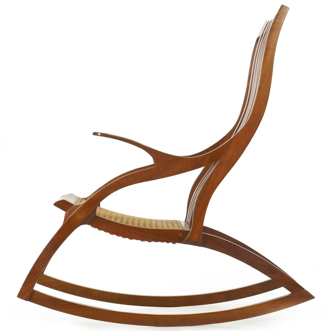 Stupendous American Studio Cherrywood Rocking Chair W Dovetailed Frame Gmtry Best Dining Table And Chair Ideas Images Gmtryco