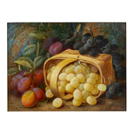 """Still Life w/ Grapes & Plums"", oil painting 