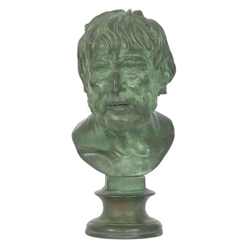 Bust of a Roman Statesman, bronze sculpture   Italian, 19th Century