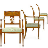 Rare Set of Four Chairs en suite by Jean-Joseph Chapuis (Belgian, 1765-1864)