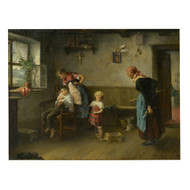 """Caught Smoking"", oil painting | Arthur Ignatius Keller (American, 1866-1924)"