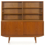 Mid Century Modern Teak Bookcase Cabinet | Scandinavian, c. 1960/70