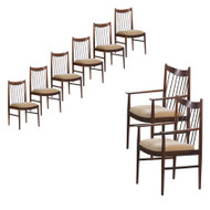 Arne Vodder for Sibast Møbler Rosewood Dining Chairs circa 1964