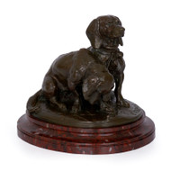 """Ravegeot et Ravageole"", bronze sculpture | Emmanuel Fremiet, Barbedienne"