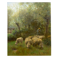 """Shepherd & Flock"", oil on canvas 