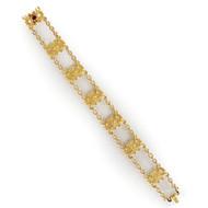 Sloan & Co. Art Nouveau 14K Gold Strap Bracelet | 14.6 grams