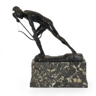 """The Enemy Below"", art deco bronze sculpture 