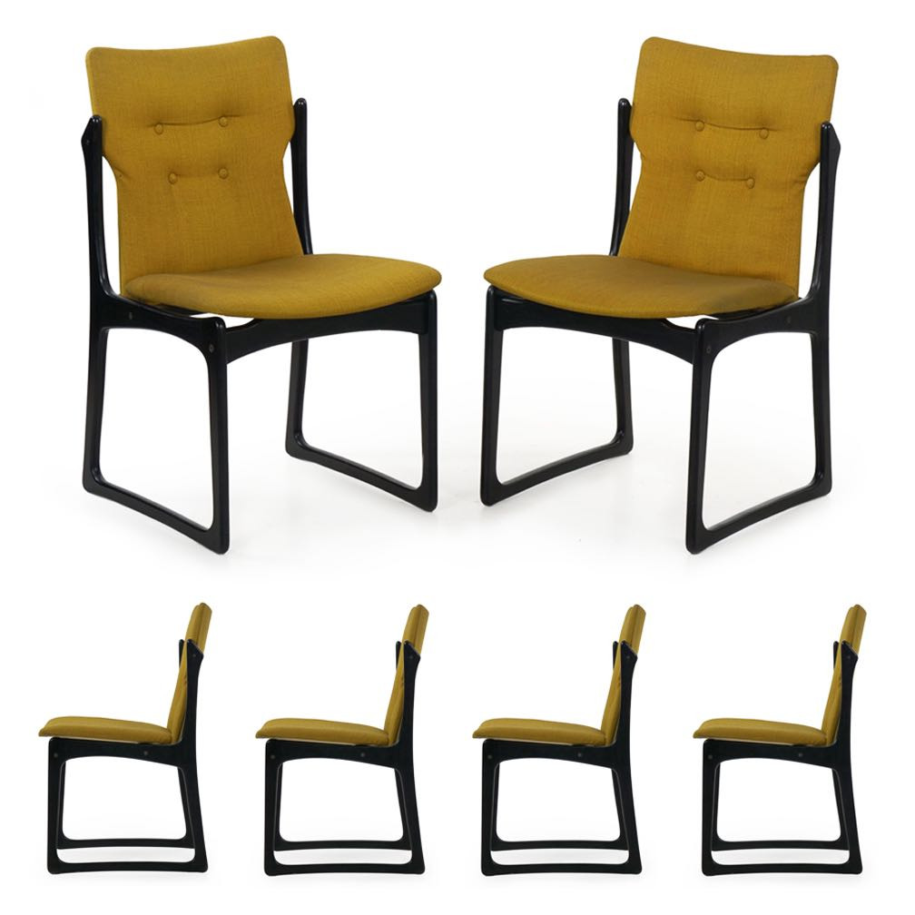 Tremendous Set Of Six Mid Century Modern Dining Chairs Stolefabrik Ca 1960 Beatyapartments Chair Design Images Beatyapartmentscom