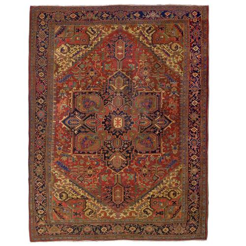 Room Size Semi-Antique Heriz Rug | Persia, circa 1920