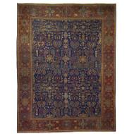 Antique Room Size Persian Mahal Rug | 13.5' x 10.5', circa 1910