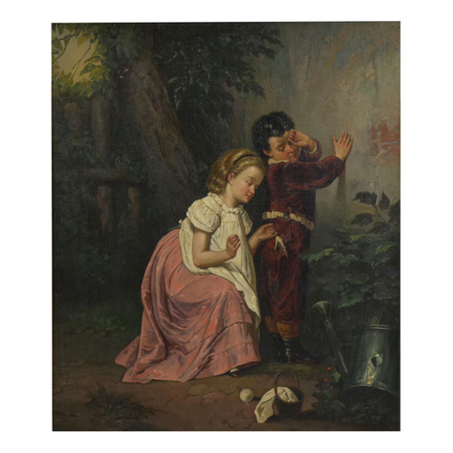 """""""A Good Sister"""", oil painting on canvas 