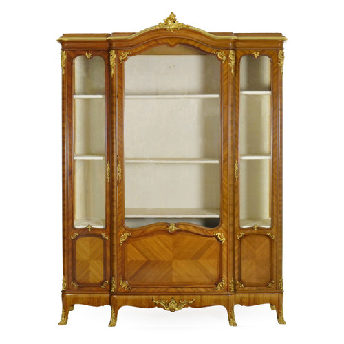 French Louis XV Style Bookcase Cabinet   Schmit & Cie