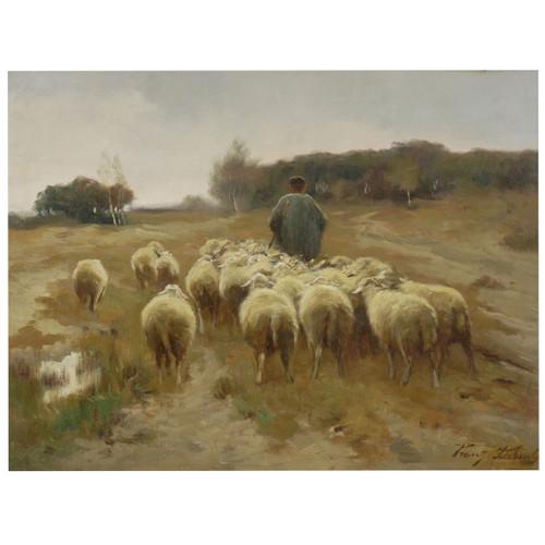 """Heading to Pasture"", oil painting | Franz de Beul (Belgian, 1849-1919)"