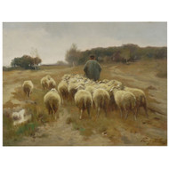 """Heading to Pasture"", oil painting 