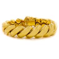 """14 Karat Yellow Gold San Marco Link Bracelet, 7 1/2"""" L   44.4 grams"""